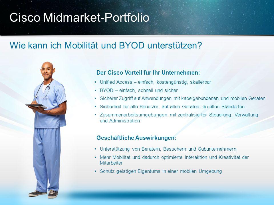 © 2013 Cisco und/oder Partnerunternehmen. Alle Rechte vorbehalten. Vertrauliche Informationen von Cisco 16 Cisco Midmarket-Portfolio Wie kann ich Mobi