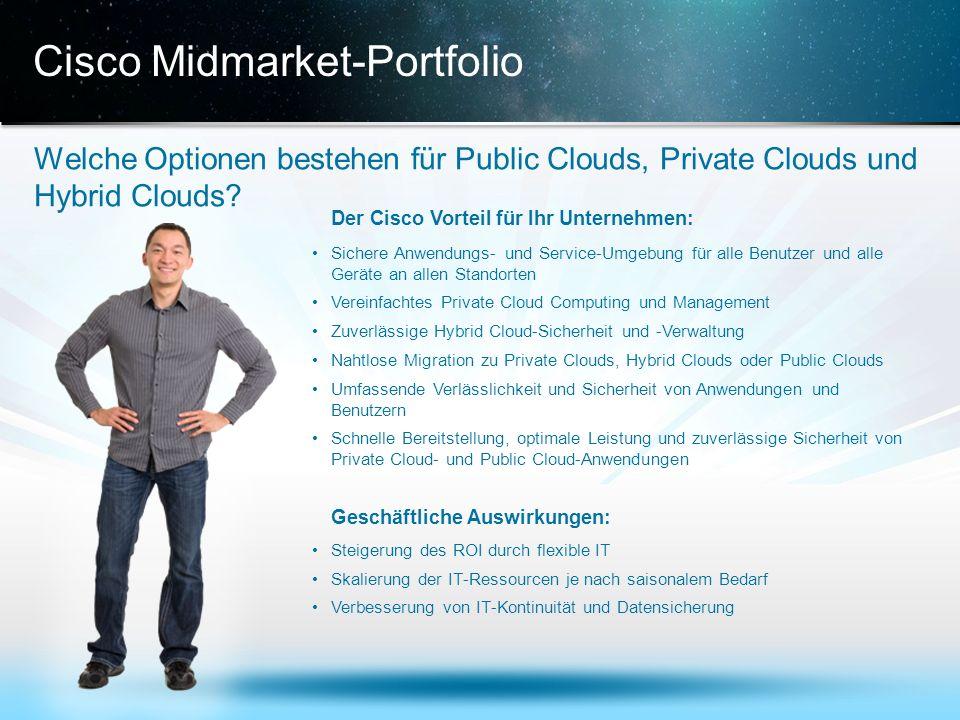 © 2013 Cisco und/oder Partnerunternehmen. Alle Rechte vorbehalten. Vertrauliche Informationen von Cisco 18 Cisco Midmarket-Portfolio Welche Optionen b
