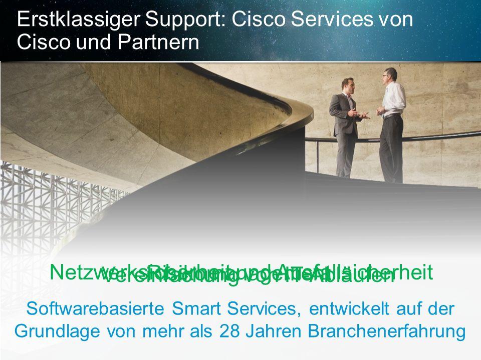 © 2013 Cisco und/oder Partnerunternehmen. Alle Rechte vorbehalten. Vertrauliche Informationen von Cisco 19 Erstklassiger Support: Cisco Services von C