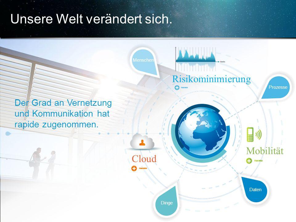 © 2013 Cisco und/oder Partnerunternehmen. Alle Rechte vorbehalten. Vertrauliche Informationen von Cisco 4 Unsere Welt verändert sich. Der Grad an Vern