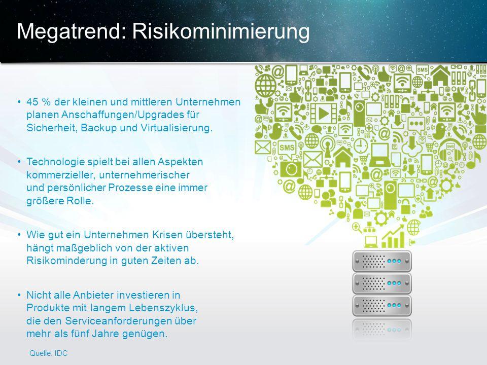 © 2013 Cisco und/oder Partnerunternehmen. Alle Rechte vorbehalten. Vertrauliche Informationen von Cisco 7 Megatrend: Risikominimierung 45 % der kleine
