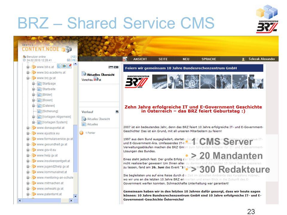 Best Practice – Bundesrechenzentrum Österreich: Shared Service Infrastruktur