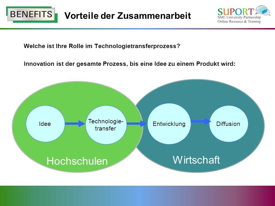 Welche ist Ihre Rolle im Technologietransferprozess.