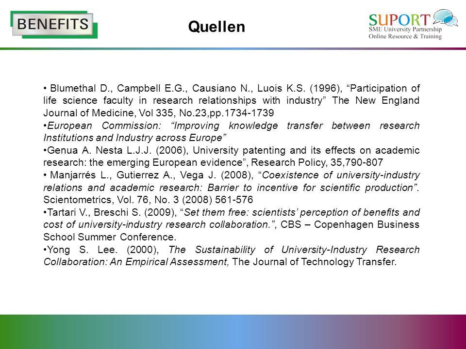 Quellen Blumethal D., Campbell E.G., Causiano N., Luois K.S.