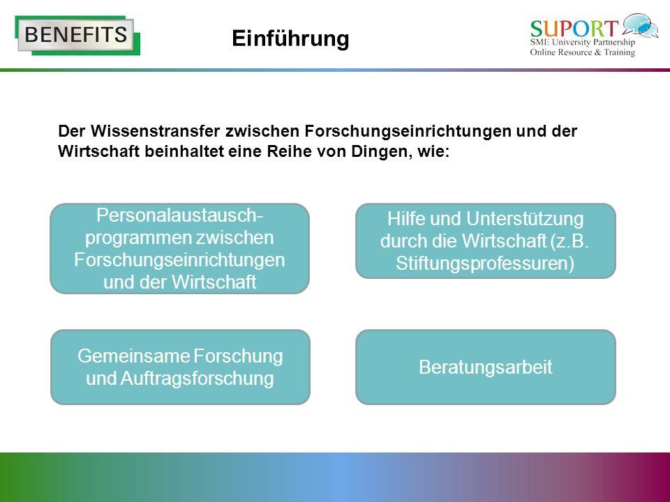 Legitimität Entwicklung gegenseitigen Vertrauens zwischen Hochschulen und KMU.