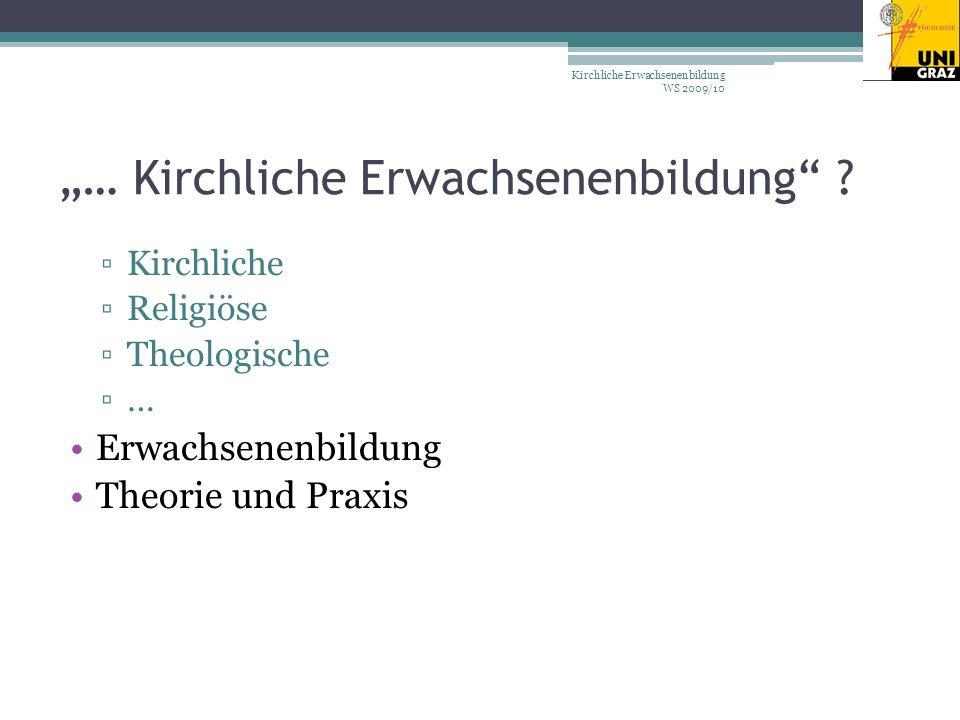 … Kirchliche Erwachsenenbildung .