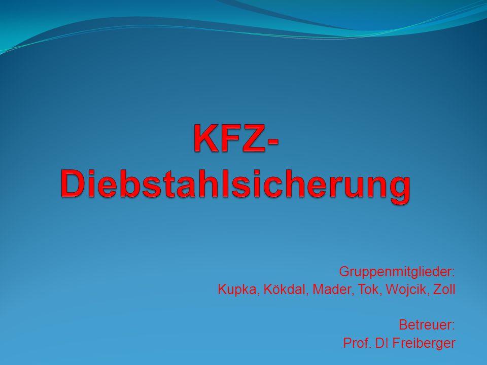 Gruppenmitglieder: Kupka, Kökdal, Mader, Tok, Wojcik, Zoll Betreuer: Prof. DI Freiberger