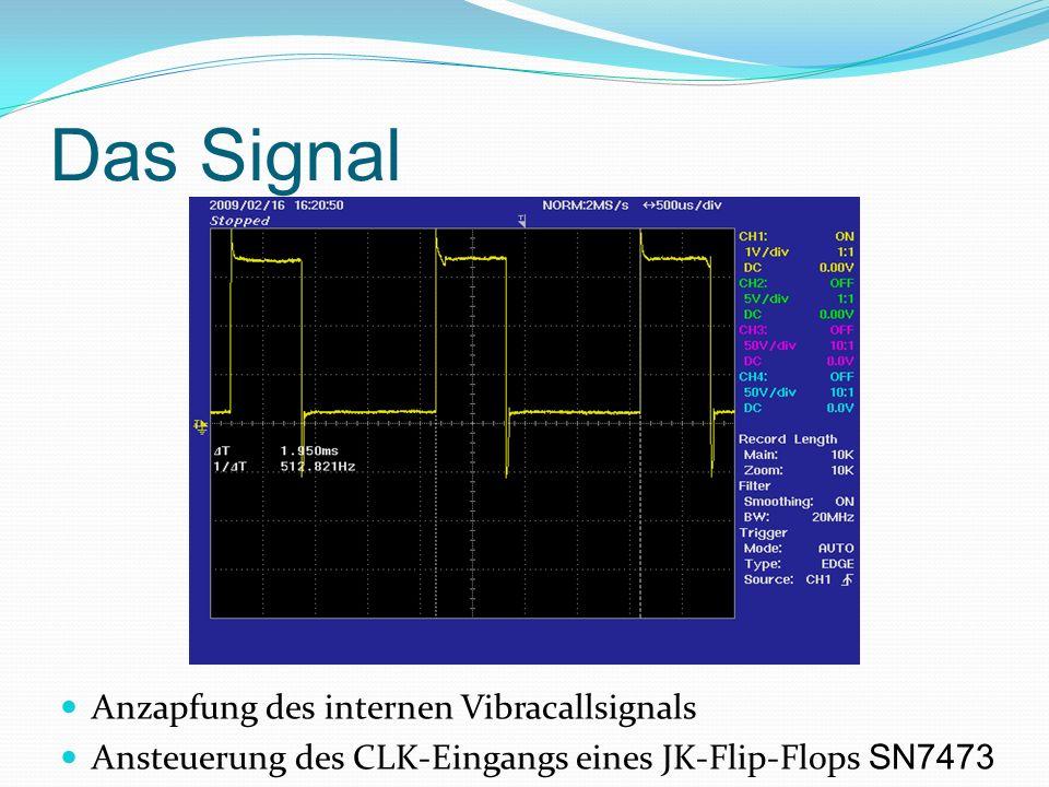 Das Signal Anzapfung des internen Vibracallsignals Ansteuerung des CLK-Eingangs eines JK-Flip-Flops SN7473