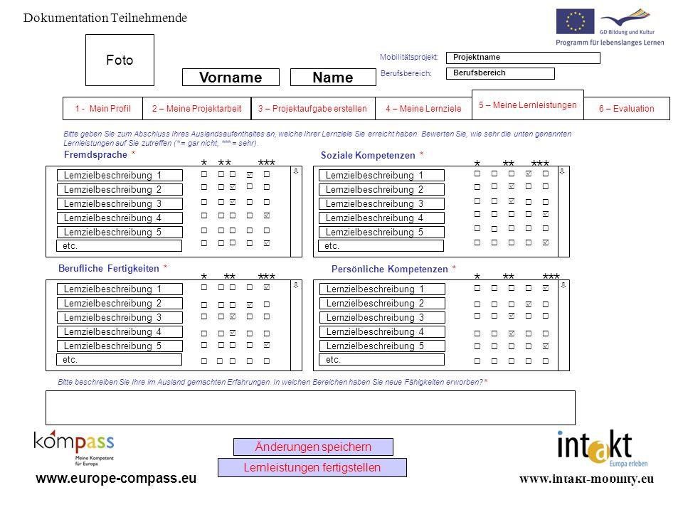 www.intakt-mobility.eu www.europe-compass.eu Bitte geben Sie zum Abschluss Ihres Auslandsaufenthaltes an, welche Ihrer Lernziele Sie erreicht haben. B