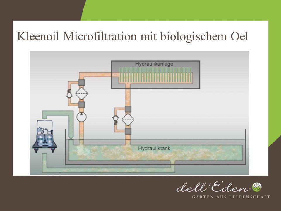 Kleenoil Microfiltration mit biologischem Oel