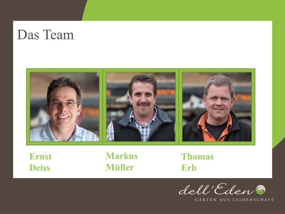 Das Team Ernst Deiss Markus Müller Thomas Erb