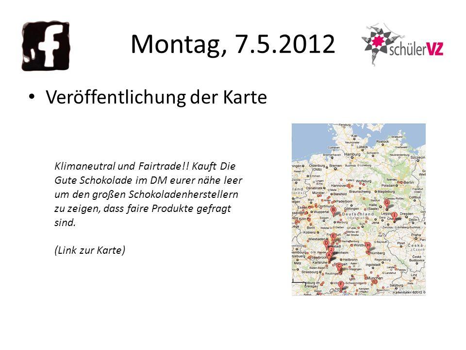 Montag, 7.5.2012 Veröffentlichung der Karte Klimaneutral und Fairtrade!.