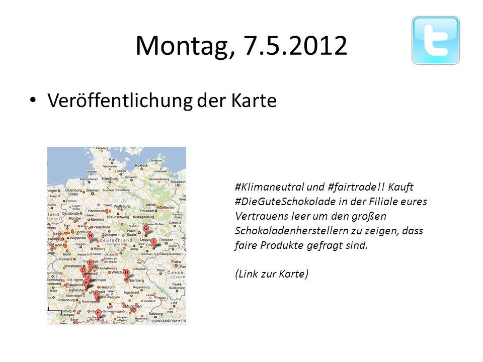 Veröffentlichung der Karte Montag, 7.5.2012 #Klimaneutral und #fairtrade!.
