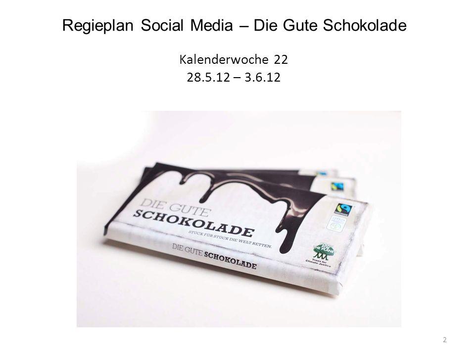 Regieplan Social Media – Die Gute Schokolade Kalenderwoche 22 28.5.12 – 3.6.12 2