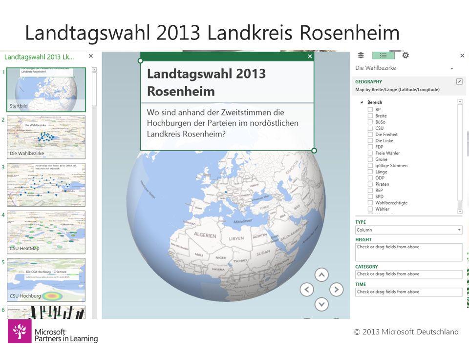 © 2013 Microsoft Deutschland Landtagswahl 2013 Landkreis Rosenheim