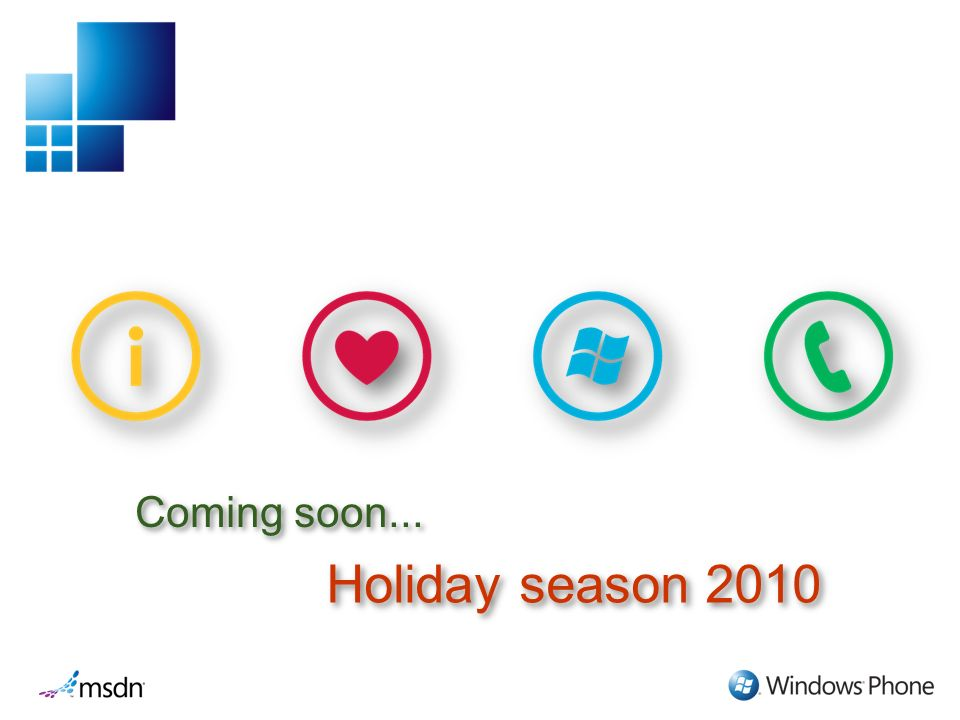Coming soon... Holiday season 2010