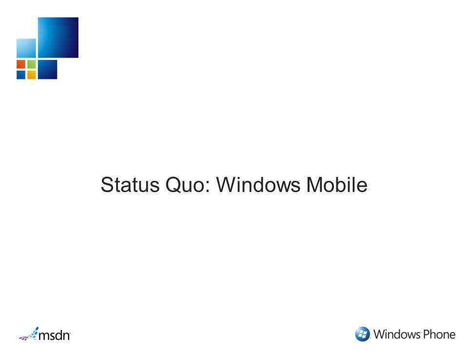 Status Quo: Windows Mobile