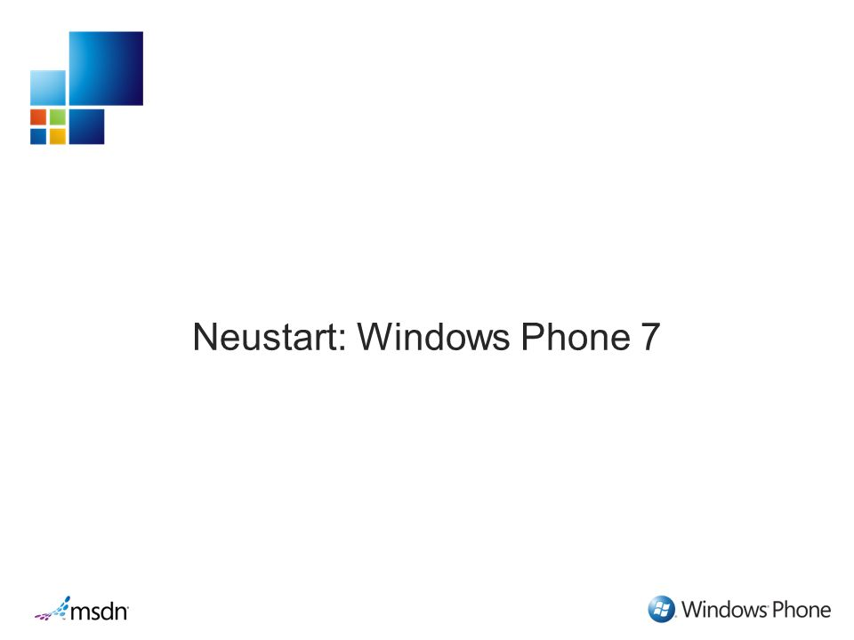 Neustart: Windows Phone 7