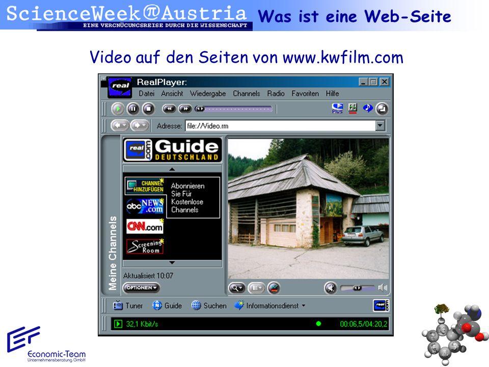 Was ist eine Web-Seite Video auf den Seiten von www.kwfilm.com