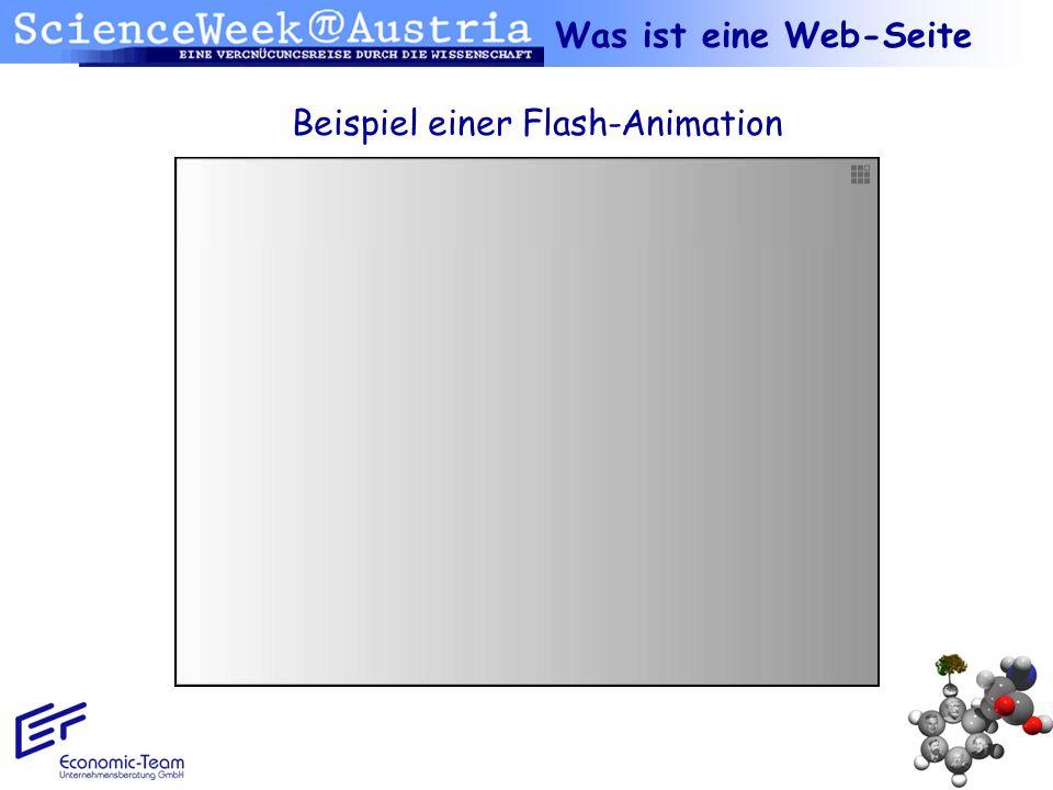 Was ist eine Web-Seite Beispiel einer Flash-Animation