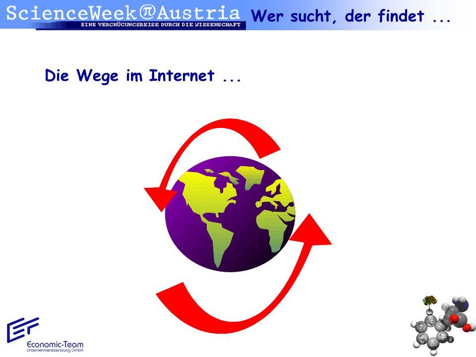 Die Wege im Internet... Wer sucht, der findet...