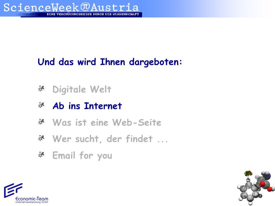 Ab ins Internet...