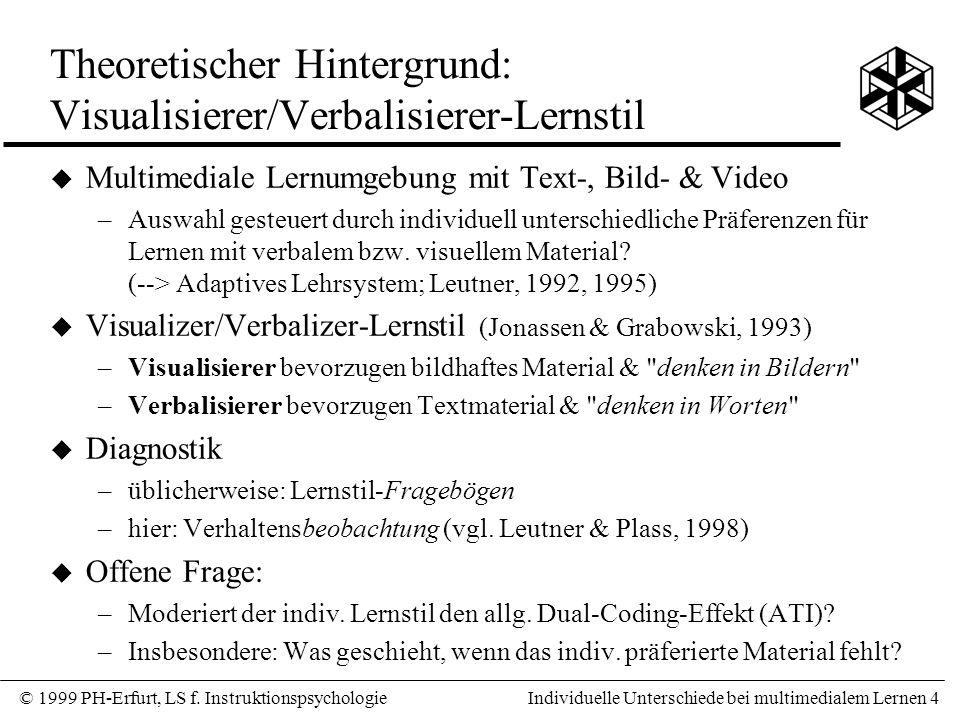 © 1999 PH-Erfurt, LS f.