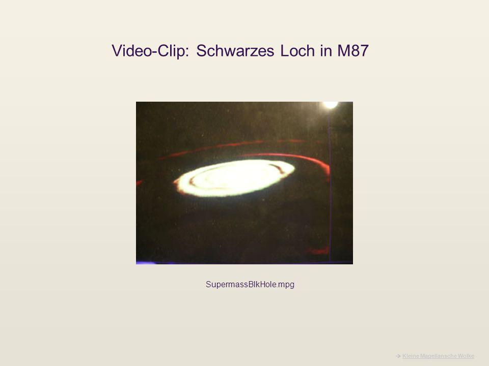 Video-Clip: Schwarzes Loch in M87 Kleine Magellansche Wolke SupermassBlkHole.mpg
