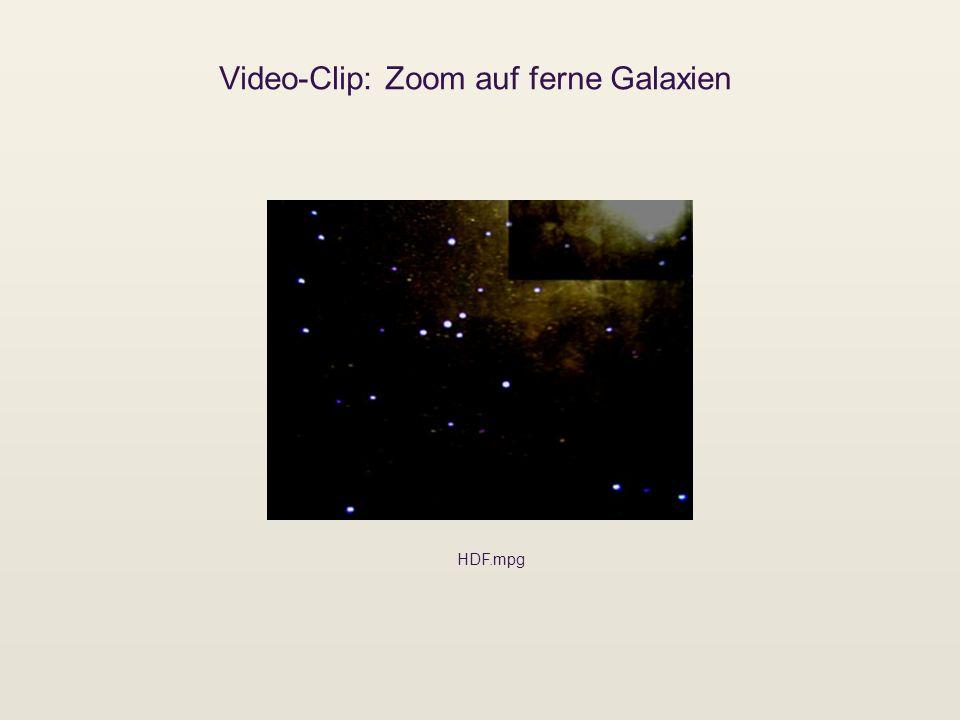 Video-Clip: Zoom auf ferne Galaxien HDF.mpg