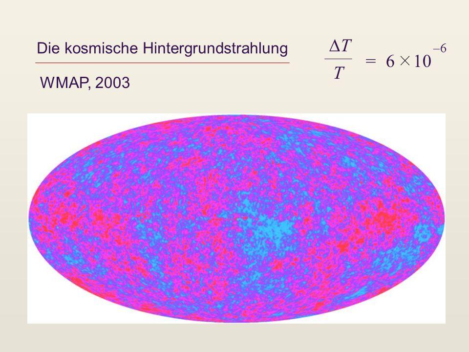 Die kosmische Hintergrundstrahlung WMAP, 2003 T T = 6 10 6