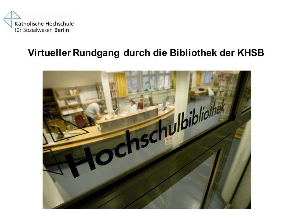 Virtueller Rundgang durch die Bibliothek der KHSB