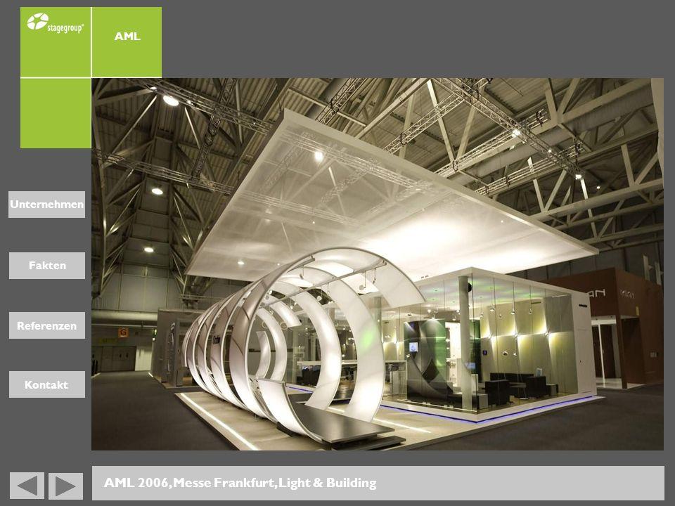 Fakten Unternehmen Referenzen Kontakt AML 2006, Messe Frankfurt, Light & Building AML