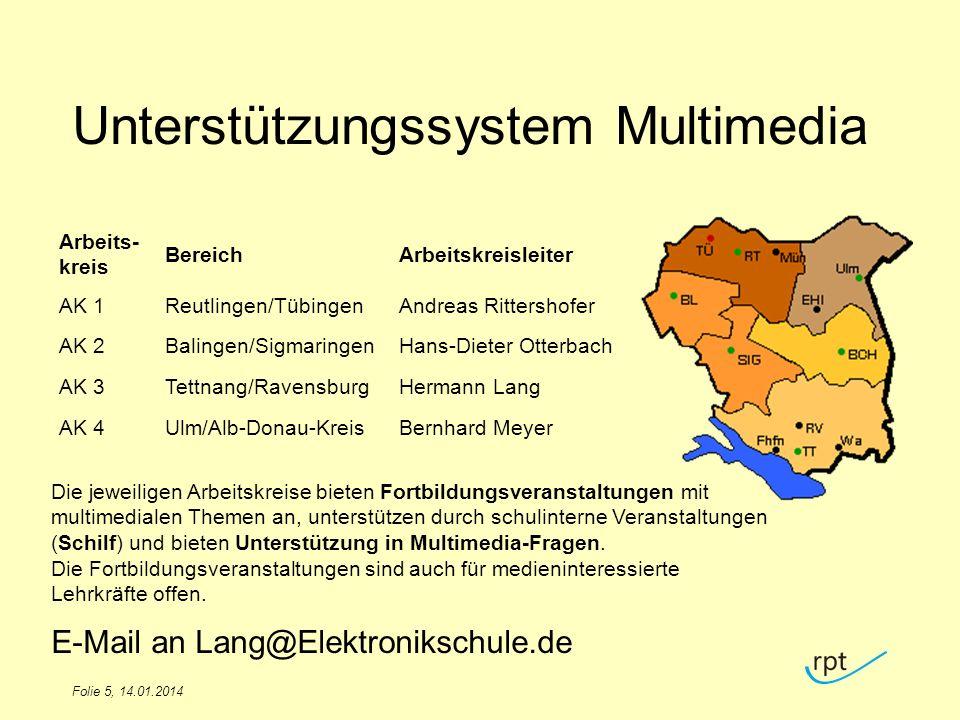 Folie 6, 14.01.2014 Fortbildungen AK-Leiter RPT-Homepage E-Mails an Schulen LFB-Online
