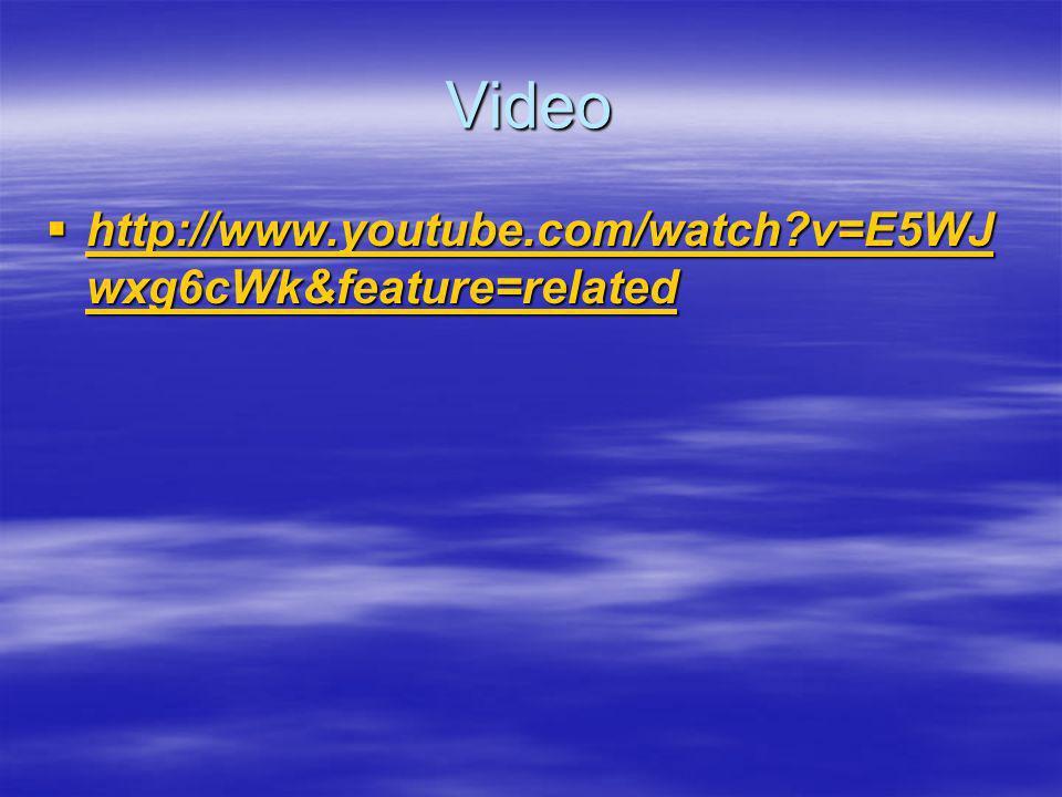 Video http://www.youtube.com/watch?v=E5WJ wxg6cWk&feature=related http://www.youtube.com/watch?v=E5WJ wxg6cWk&feature=related http://www.youtube.com/w