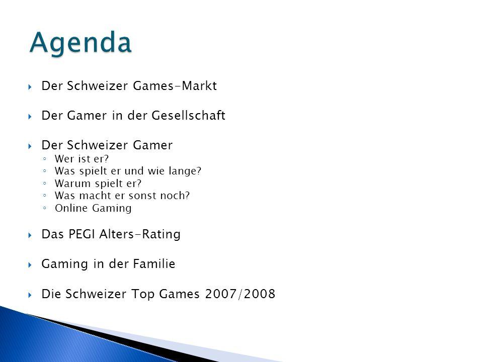 Der Schweizer Games-Markt Der Gamer in der Gesellschaft Der Schweizer Gamer Wer ist er.