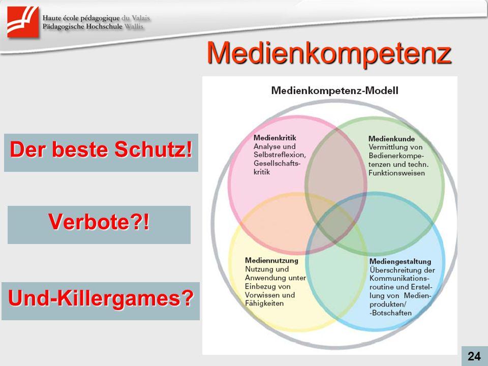 Medienkompetenz Der beste Schutz! 24 Verbote?! Und-Killergames?