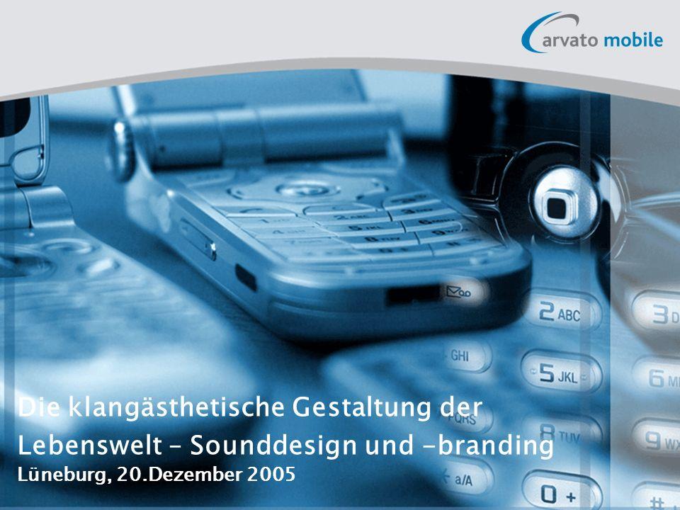11 Die klangästhetische Gestaltung der Lebenswelt – Sounddesign und –branding Produktübersicht 4.