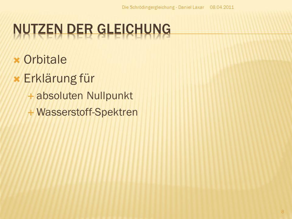 08.04.2011 9 Die Schrödingergleichung - Daniel Laxar