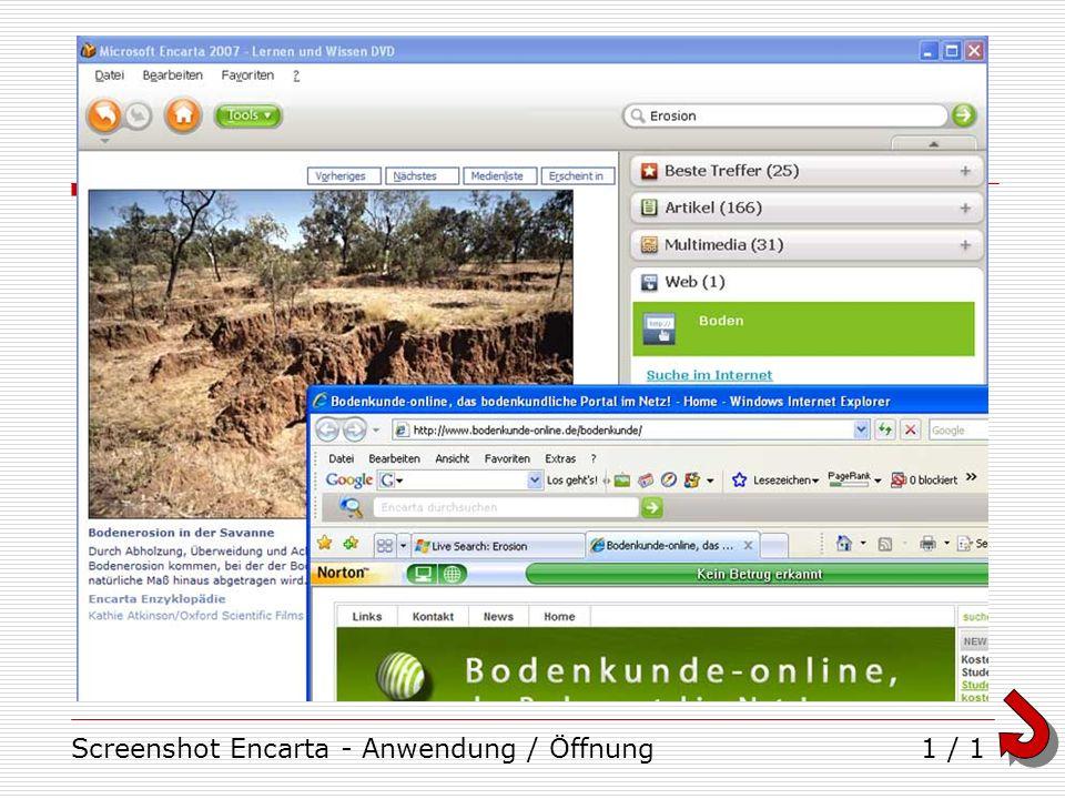 Screenshot Encarta - Anwendung / Öffnung1 / 1