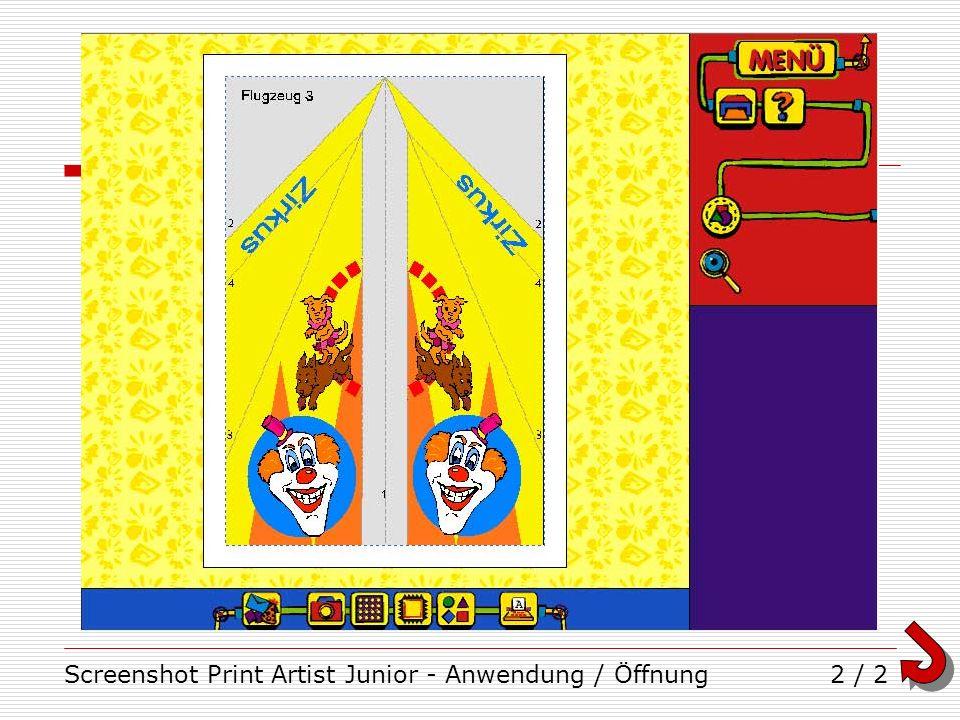 Screenshot Print Artist Junior - Anwendung / Öffnung2 / 2
