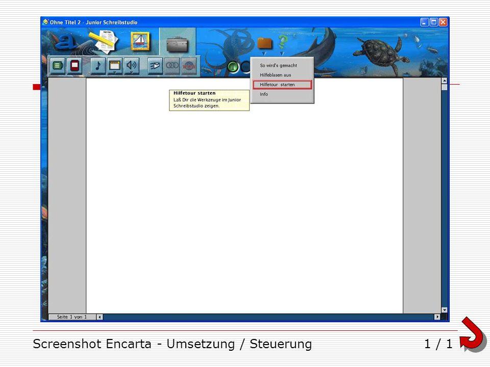 Screenshot Encarta - Umsetzung / Steuerung1 / 1