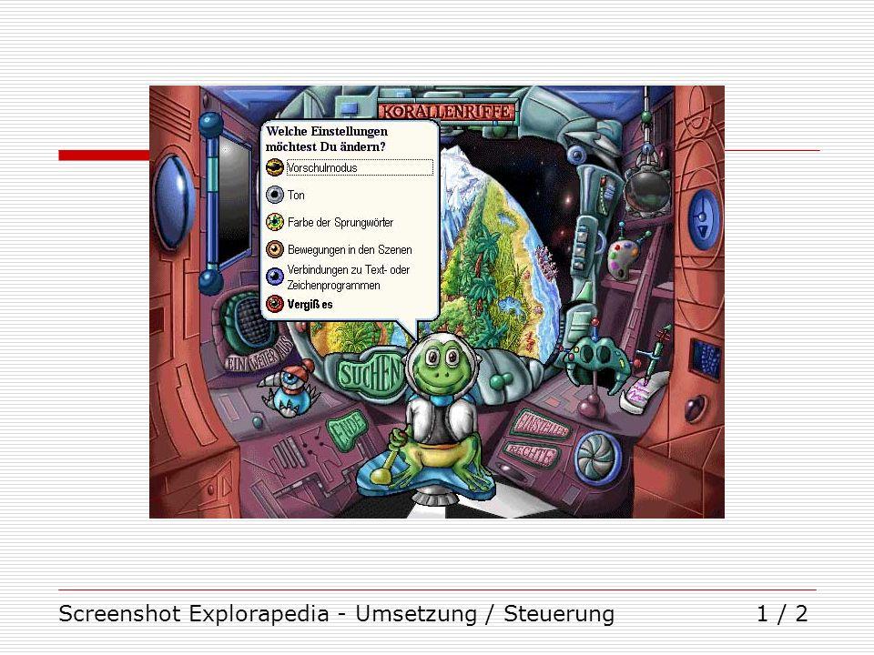 Screenshot Explorapedia - Umsetzung / Steuerung1 / 2