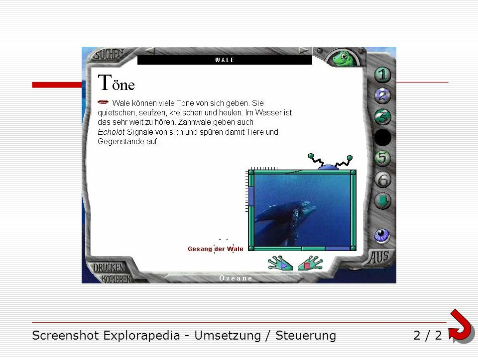 Screenshot Explorapedia - Umsetzung / Steuerung2 / 2