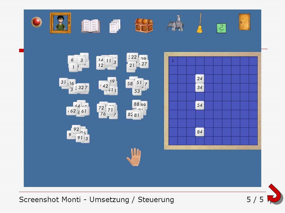 Screenshot Monti - Umsetzung / Steuerung5 / 5