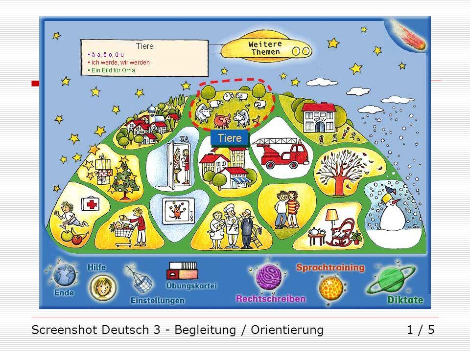 Screenshot Deutsch 3 - Begleitung / Orientierung1 / 5