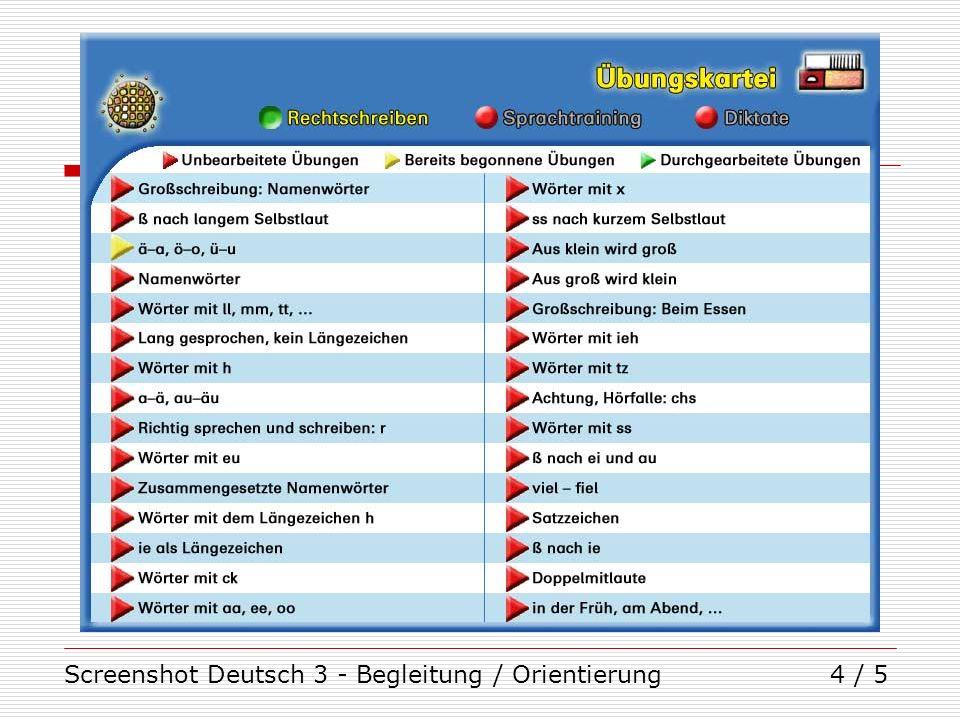 Screenshot Deutsch 3 - Begleitung / Orientierung4 / 5