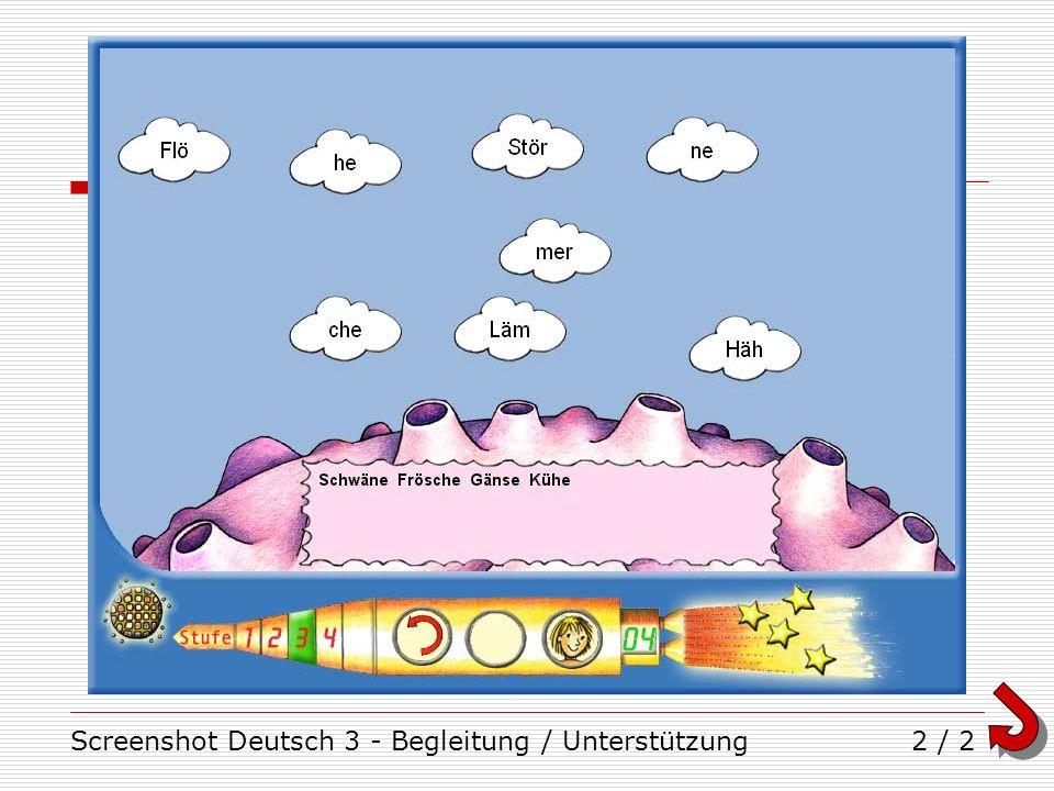 Screenshot Deutsch 3 - Begleitung / Unterstützung2 / 2