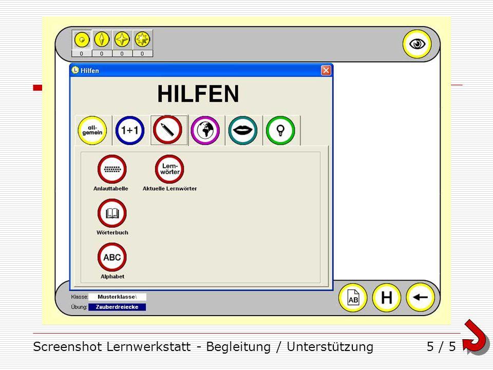 Screenshot Lernwerkstatt - Begleitung / Unterstützung5 / 5
