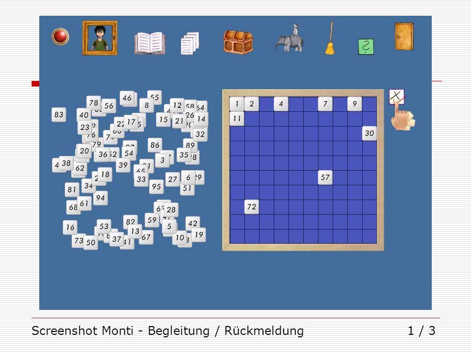 Screenshot Monti - Begleitung / Rückmeldung1 / 3