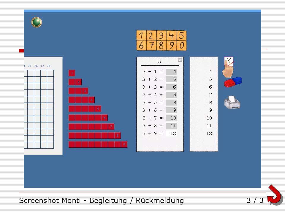 Screenshot Monti - Begleitung / Rückmeldung3 / 3